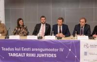 Pildi autor Erik Peinar. Peaesinejad- panelistid: Maris Lauri, Maive Rute, Jevgeni Ossinovski, Volli Kalm, Indrek Reimand ja Ülle Jaakma